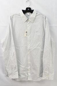 Calvin Klein Men's Diamond Printed Dress Shirt, White, Size L 17.5 34-35, NwT