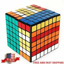 7x7 Speed Smooth Cube Puzzle Rubik Toy Rubix Game Brain Teaser 6 sides