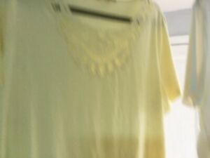 LADIES SIZE 22 TOPS X 3 IN EXCELLENT CONDITION TWO SHORT SLEEVES. ONE LONG SLEEV