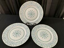"""Aynsley """"FORGET ME NOT"""" England ~ Set of 3 ~ Dinner Plates ~ 10 3/8"""""""