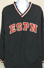 ESPN Reversible Pullover Jacket Black Red Men's XXL? Est 1979 World Wide Leader