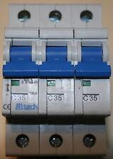 New in Box 3CU35R Circuit Breaker, Altech Corp, 3 Pole, C Curve, 35A, UL1077