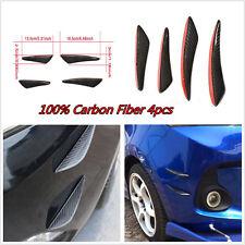 Universal 4pcs C Style Carbon Fiber Front Bumper Fins Lip Kit Canards Splitters
