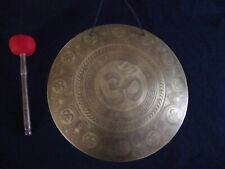 """20"""" Om Temple Gong - 3 kg - hand crafted in Nepal - meditation - yoga - healing"""