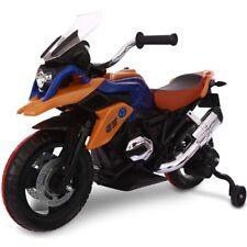Moto da corsa Elettrica per Bambini 12 V Ricaricabile con rotelle luci e suoni