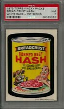 1973 Topps Wacky Packages Breadcrust Hash 1st Series White Back PSA 7 NM Card