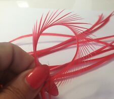 10 x 14-25cm Salmon Watermelon Dyed Goose Biot Feathers DIY Craft Millinery Hat