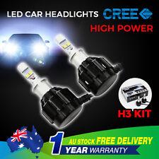 H3 120W LED CAR HEADLIGHT KIT HIGH LOW BEAM VEHICLE REPLACE HALOGEN XENON