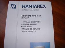 MANUALE  ELETTRONICA MONITOR  HANTAREX  MTC 9110 25/28 jamma