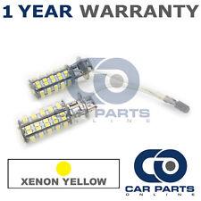 2x XENON AMARILLO H3 60SMD LED luz antiniebla Bombillas Land Rover Defender