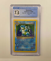 1999 Pokemon Game Blastoise Holo Shadowless 2/102 NM+ CGC 7.5 (PSA 9?)