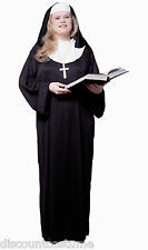 NUN CATHOLIC NUN SISTER HALLOWEEN COSTUME ADULT PLUS SIZE - FITS UP TO A SIZE 22
