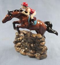 Spring jinete caballo de porcelana figura porcelana figura Hagen Renaker Horse