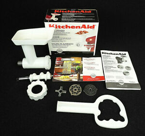 Kitchen Aid Food Grinder Stand Mixer Attachment White Model FGA Complete