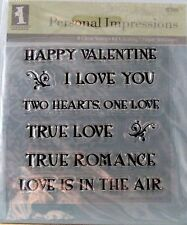 NEW INKADINKADO PERSONAL IMPRESSIONS CLEAR STAMP ROMANCE EXPRESSIONS 97583