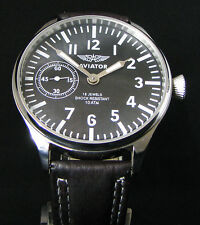 MOLNIJA AVIATOR VINTAGE USSR SOVIET AIR FORCE BIG PILOT'S STEEL WATCH