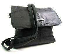 Ladies New Handbag Crossover Shoulder Black Genuine Patchwork Leather Bag Lorenz