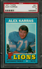 1971 TOPPS #41 ALEX KARRAS PSA 9 MINT DETROIT LIONS FOOTBALL