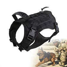 Tactical Adjustable Dog V Est MOLLE K9 Training Patrol Dog Harness with Handle
