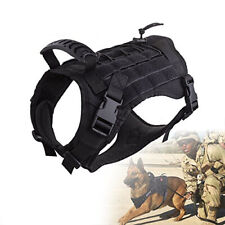 Tactical Dog Coat Molle K9 Training Harness Military Patrol Cloth w/ Top Handle
