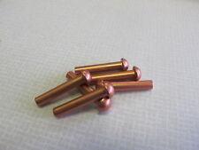 """1/8 X 3/4"""" COPPER ROUND HEAD SOLID RIVET (500 Pcs) MODEL MAKERS"""