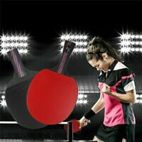 Professional Carbon Fiber Table Tennis Racket Set Double Face Ping Pong Paddle