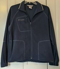New Mens Columbia Full Zip Fleece  Jacket  Size Large  Dark Blue