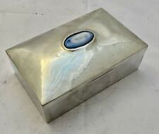 large liberty & co tudric  arts & crafts pewter box with ruskin cabochon 01021