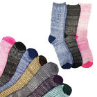 6 Pairs: Nicole Miller Women's Ribbed Boot Socks