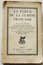 La fleur de la cuisine française éd La Sirène 1920