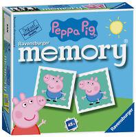 21376 Ravensburger Peppa Pig Mini Memory Childrens Kids Game Toy 48 Piece Age 3+