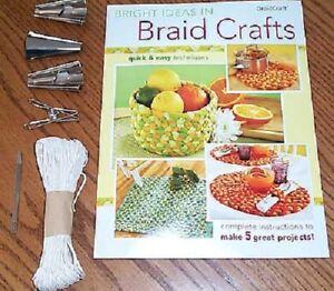 Braidcraft rug braiding Starter Kit: cones clamp lacing needle Braid Craft kit