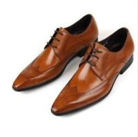 Mens Brogue Pointy Toe Dress Formal  Business Oxford Wing Tip  Business Shoes