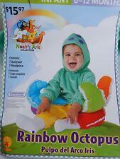 Baby Halloween NEW 2-piece Costume RAINBOW OCTOPUS Noah's Ark infant 6-12 months