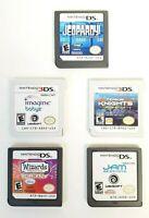 Lot of 5 Nintendo DS 3DS 2DS Games Bundle Disney Wizards Jeopardy TV Show & more