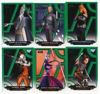 2017 Topps Star Wars Galactic Files Reborn Green Parallel Lot /199-28 cards LUKE