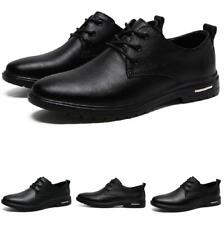 Mens Work Office Lace up Business Non-slip Low Top Leisure Faux Leather Shoes L