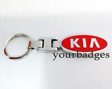 New Chrome Metal Red KIA key chain Sportage Picanto