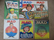 Vintage Lot of 6 MAD MAGAZINE Issues 1971