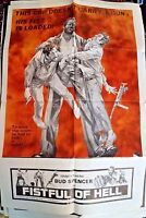 "Bud Spencer in Fistful of Hell Movie Poster Folded 40""x27"""