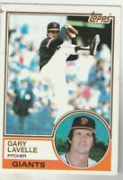 FREE SHIPPING-MINT TO NRMINT-1983 Topps #791 Gary Lavelle Giants +BONUS CARDS