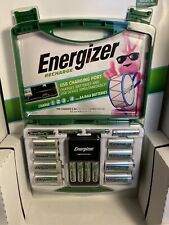 Energizer Rechargeable Batteries Kit w/ Charger 6 AA & 4 AAA Adapters C D NEW!