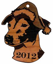 Personalized Jack Russell/Santa Hat Wooden Christmas Ornament (FREE SHIPPING)