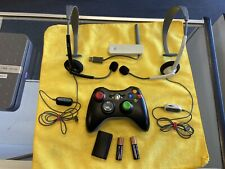 XBOX 360 BUNDLE: 1 CONTROLLER, 2 HEADSETS, WIRELESS NETWORKING WIFI ADAPTER