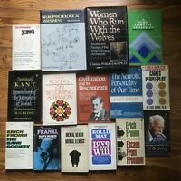 LOT of 15 Psychology Jung Fromm Freud Frankl Rogers Rollo Kant Occult Esoteric