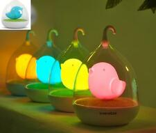 3D Cartoon Birdcage Vibration Touch Control Tweety Angry Bird LED Night Lamp