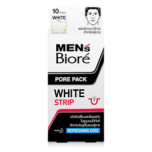 10 Strips Men's Biore Pore Pack Cool Cleansing Nose Peel-Off Blackhead Remover