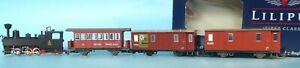 Liliput Dampflok #2 der Zillertalbahn H0e Schmalspur+ 3 x Personenwagen Epoche 3
