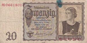 Germany  20 Reichsmark 1939 WWII  (B111)