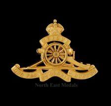 Royal Artillery Officers Gilt Cap Badge